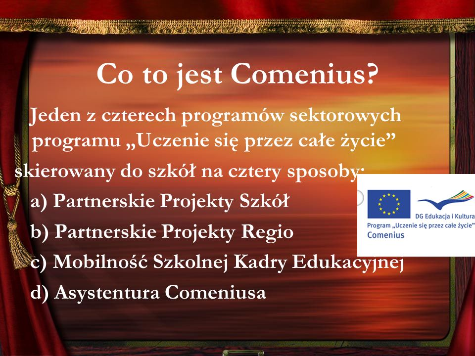 Co to jest Comenius.