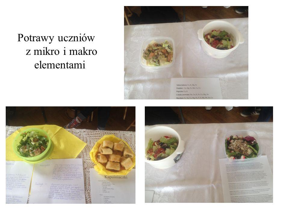 Potrawy uczniów z mikro i makro elementami