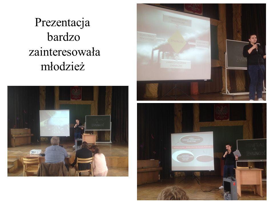 Prezentacja bardzo zainteresowała młodzież