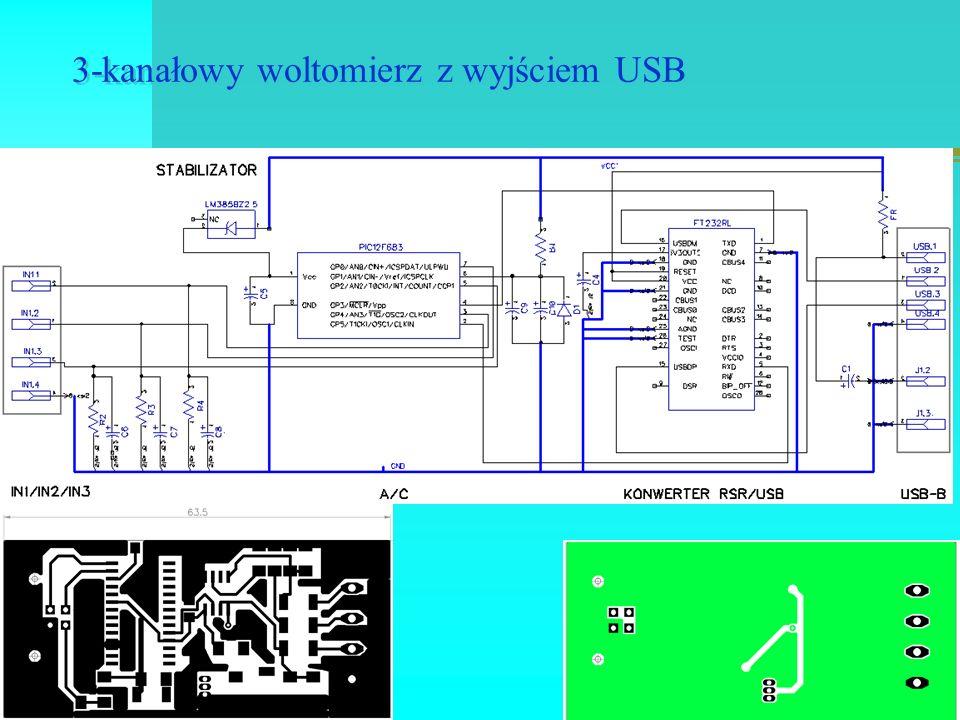 3-kanałowy woltomierz z wyjściem USB