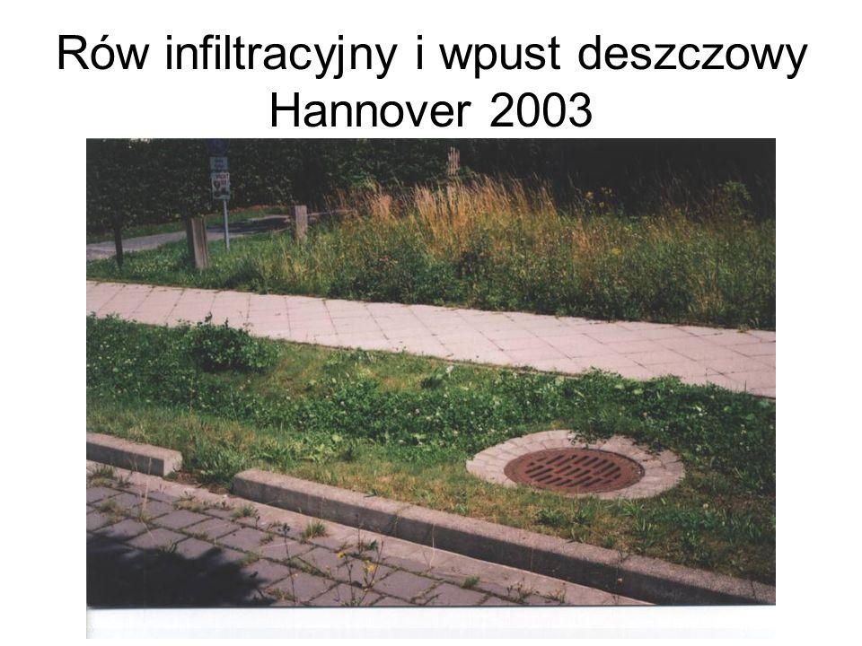 Rów infiltracyjny i wpust deszczowy Hannover 2003