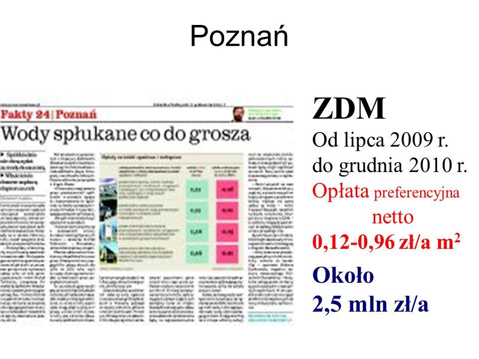 Poznań ZDM Od lipca 2009 r. do grudnia 2010 r.