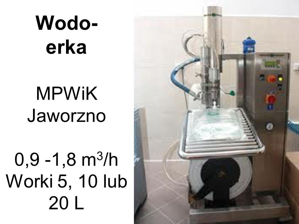 Wodo- erka MPWiK Jaworzno 0,9 -1,8 m 3 /h Worki 5, 10 lub 20 L