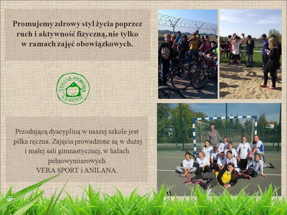 Promujemy zdrowy styl życia poprzez ruch i aktywność fizyczną, nie tylko w ramach zajęć obowiązkowych.