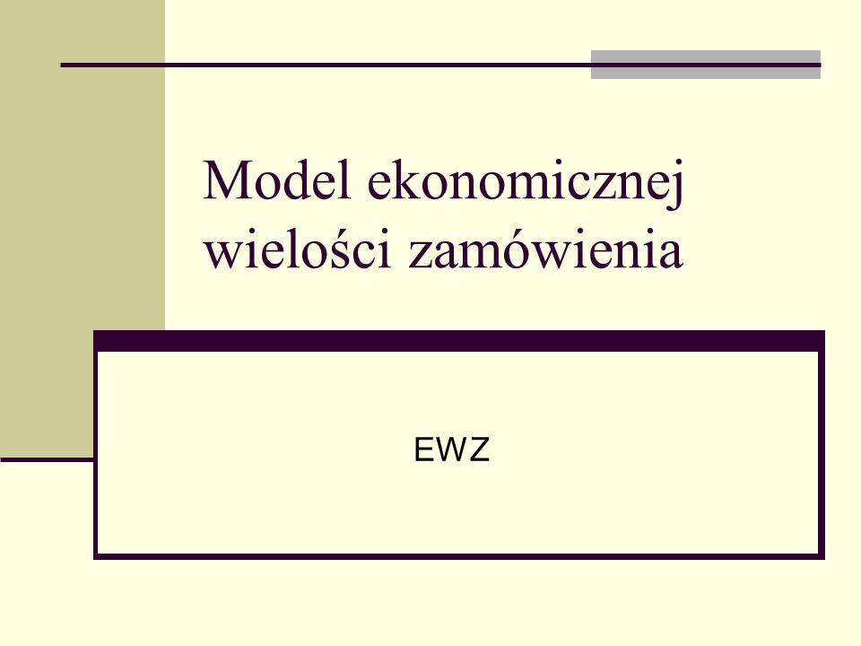 Model ekonomicznej wielości zamówienia EWZ
