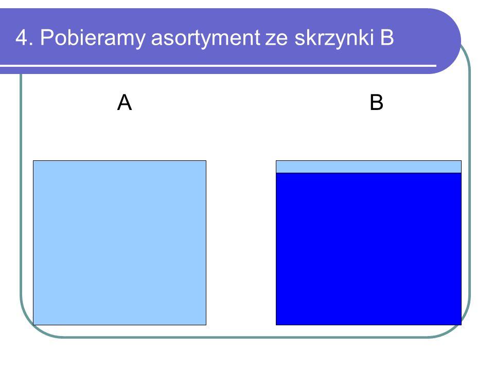 4. Pobieramy asortyment ze skrzynki B A B