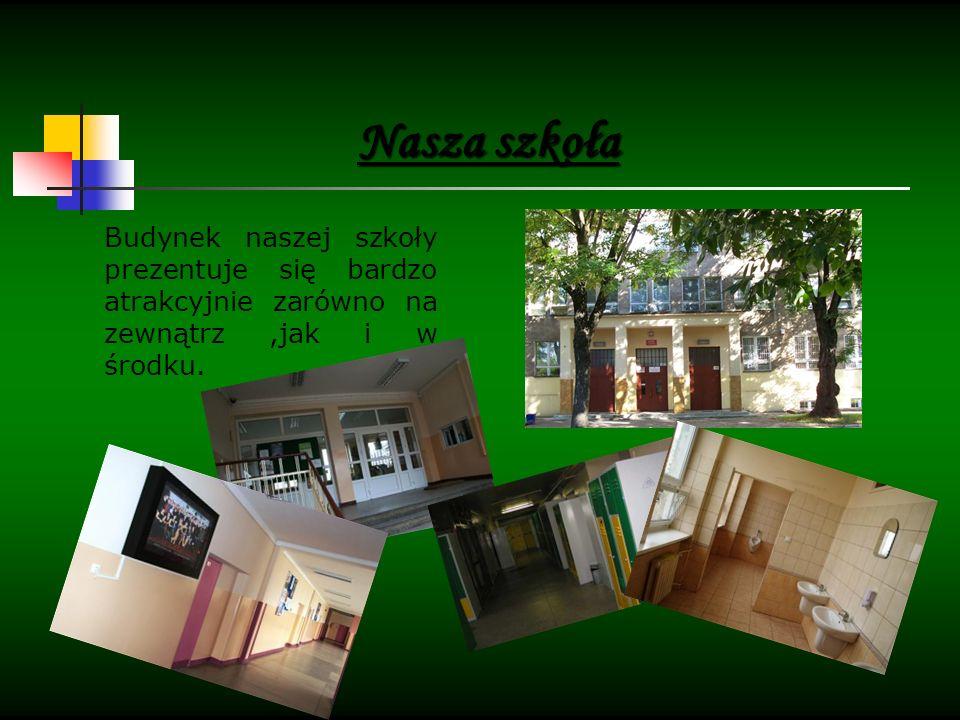 Budynek naszej szkoły prezentuje się bardzo atrakcyjnie zarówno na zewnątrz,jak i w środku.
