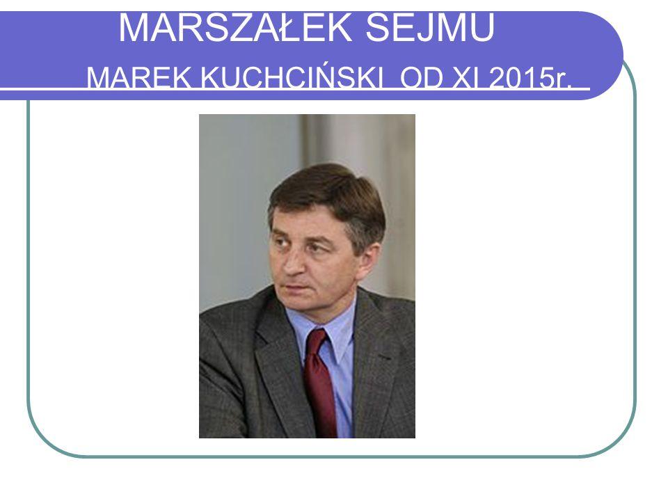 MARSZAŁEK SEJMU MAREK KUCHCIŃSKI OD XI 2015r.