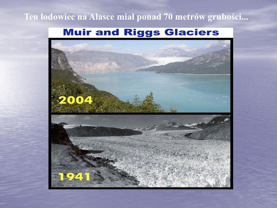 Ten lodowiec na Alasce miał ponad 70 metrów grubości...