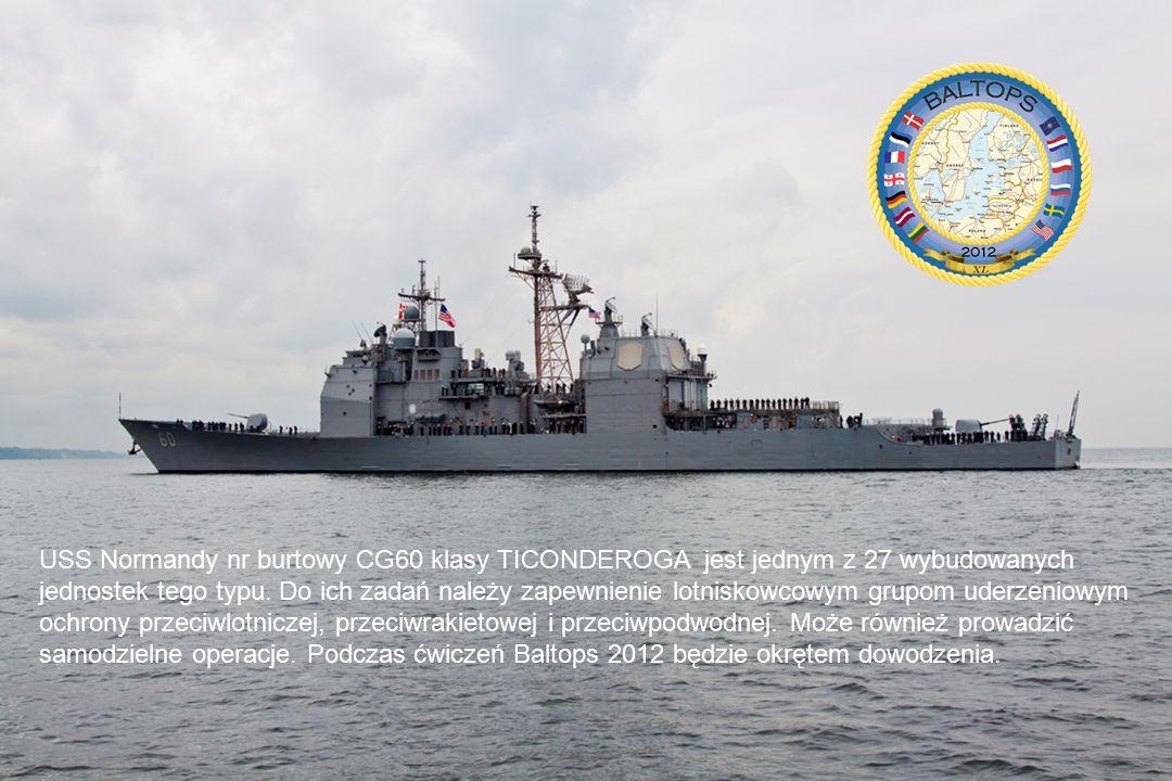 USS Normandy nr burtowy CG60 klasy TICONDEROGA jest jednym z 27 wybudowanych jednostek tego typu.