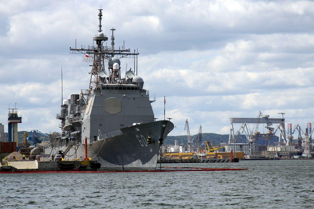 Dowódca Marynarki Wojennej RP Admirał Floty Tomasz Mathea Dowódca VI Floty Stanów Zjednoczonych Dowódca sił uderzeniowych i wsparcia NATO Vice Admirał Frank Craig Pandolfe Konferencja prasowa nt.