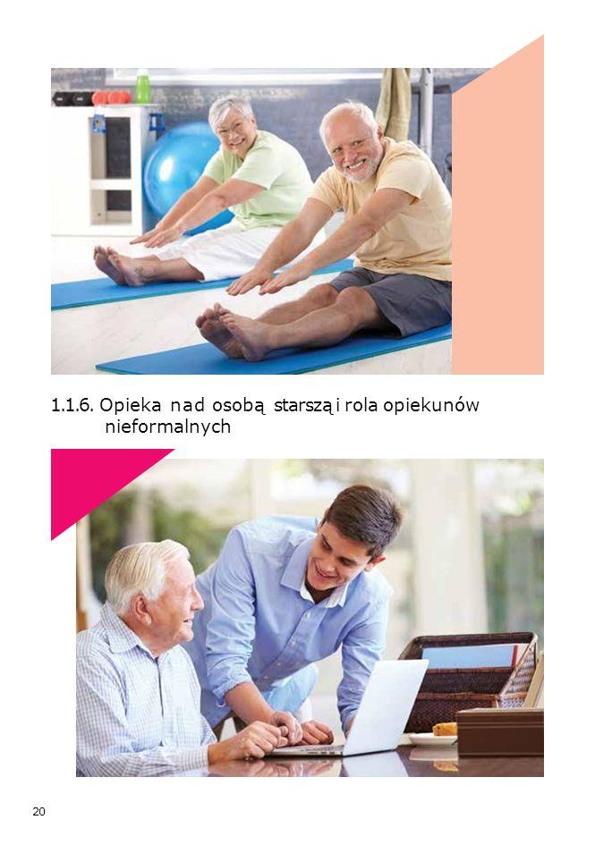 20 1.1.6. Opieka nad osobą starszą i rola opiekunów nieformalnych
