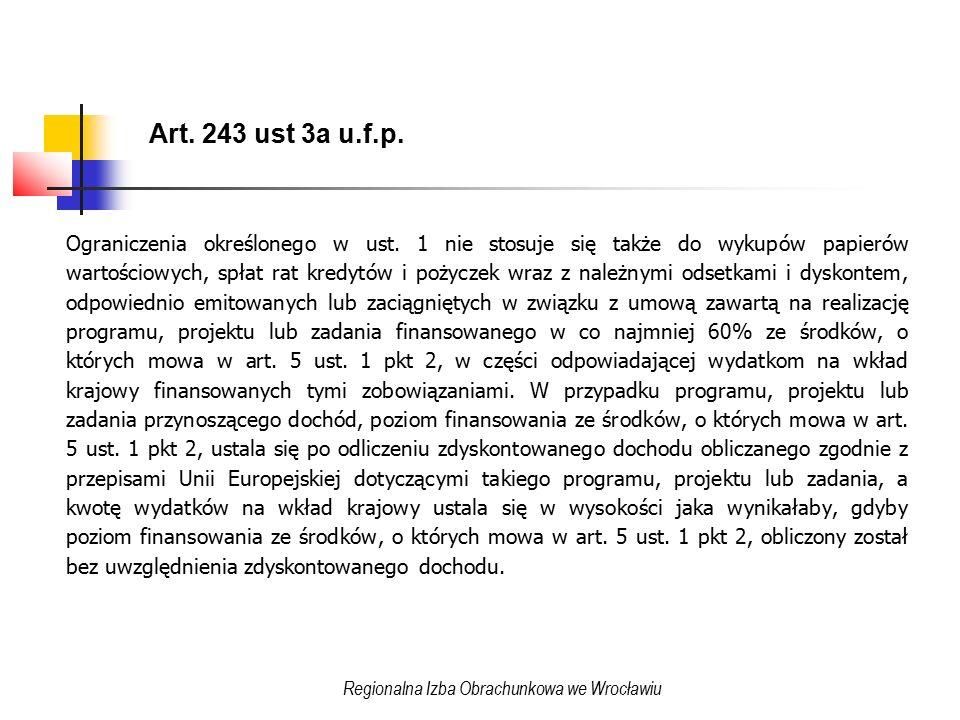Art. 243 ust 3a u.f.p. Ograniczenia określonego w ust.