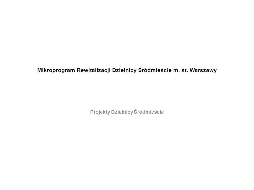 Mikroprogram Rewitalizacji Dzielnicy Śródmieście m. st. Warszawy Projekty Dzielnicy Śródmieście