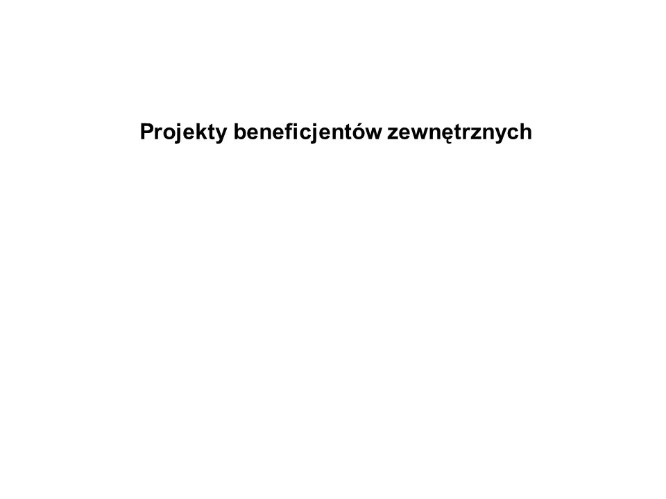 Projekty beneficjentów zewnętrznych