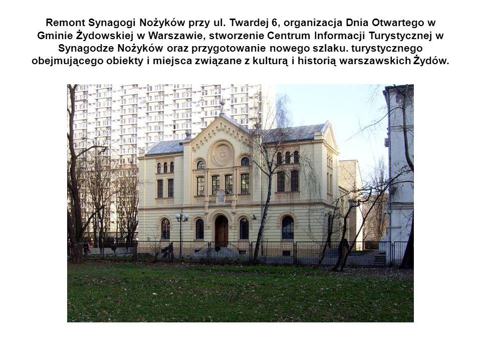 Remont Synagogi Nożyków przy ul.