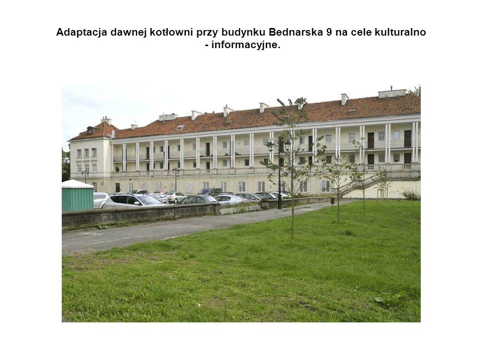 Adaptacja dawnej kotłowni przy budynku Bednarska 9 na cele kulturalno - informacyjne.