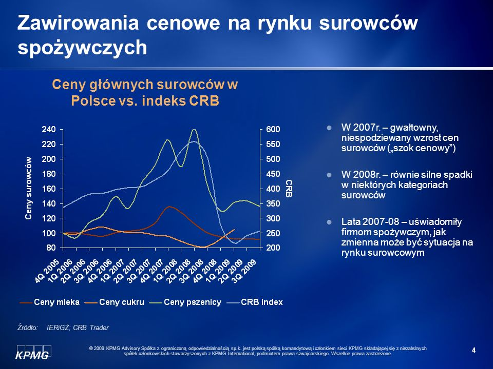 4 © 2009 KPMG Advisory Spółka z ograniczoną odpowiedzialnością sp.k. jest polską spółką komandytową i członkiem sieci KPMG składającej się z niezależn
