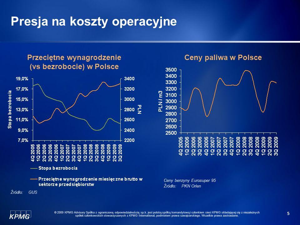 5 © 2009 KPMG Advisory Spółka z ograniczoną odpowiedzialnością sp.k. jest polską spółką komandytową i członkiem sieci KPMG składającej się z niezależn