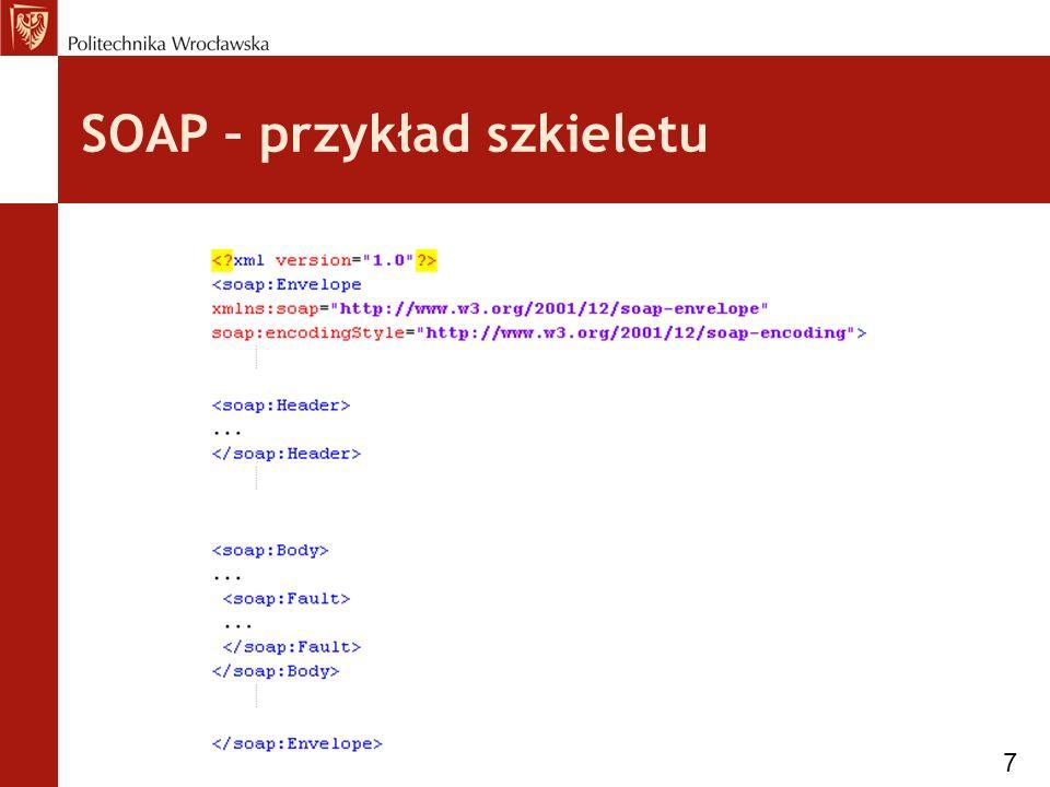 Warstwy WS - Description Jest to warstwa opisu API web serwisu 28