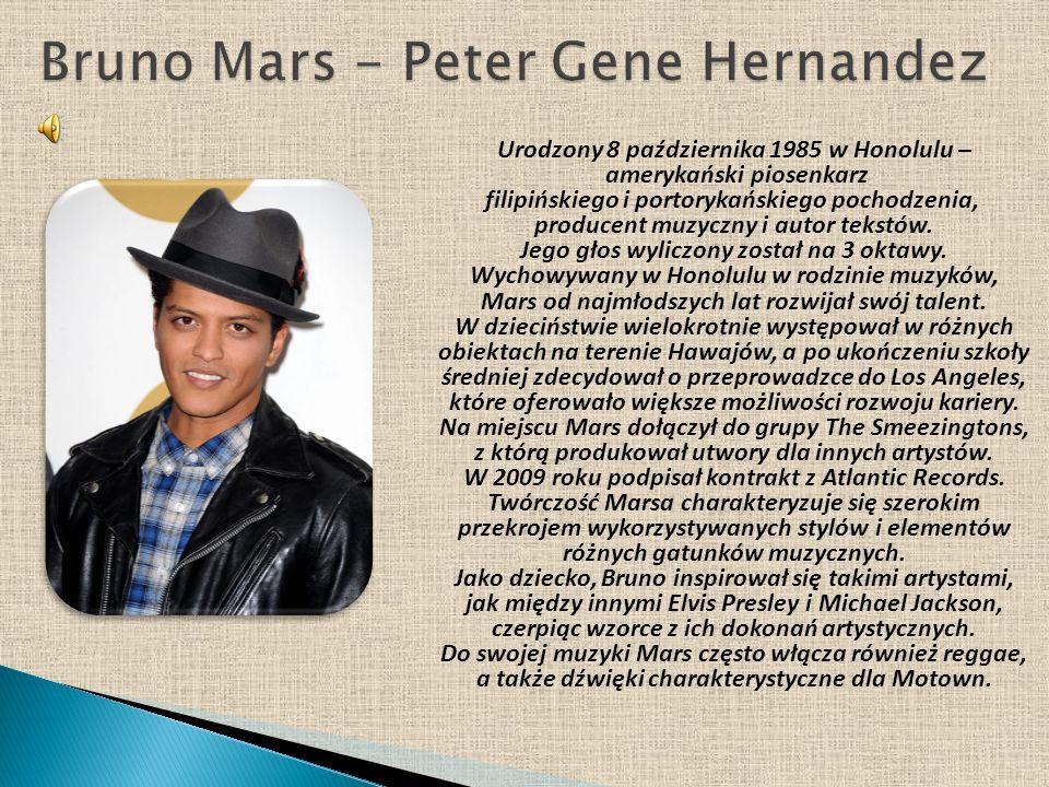 Urodzony 8 października 1985 w Honolulu – amerykański piosenkarz filipińskiego i portorykańskiego pochodzenia, producent muzyczny i autor tekstów. Jeg