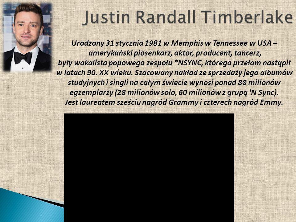 Urodzony 31 stycznia 1981 w Memphis w Tennessee w USA – amerykański piosenkarz, aktor, producent, tancerz, były wokalista popowego zespołu *NSYNC, któ