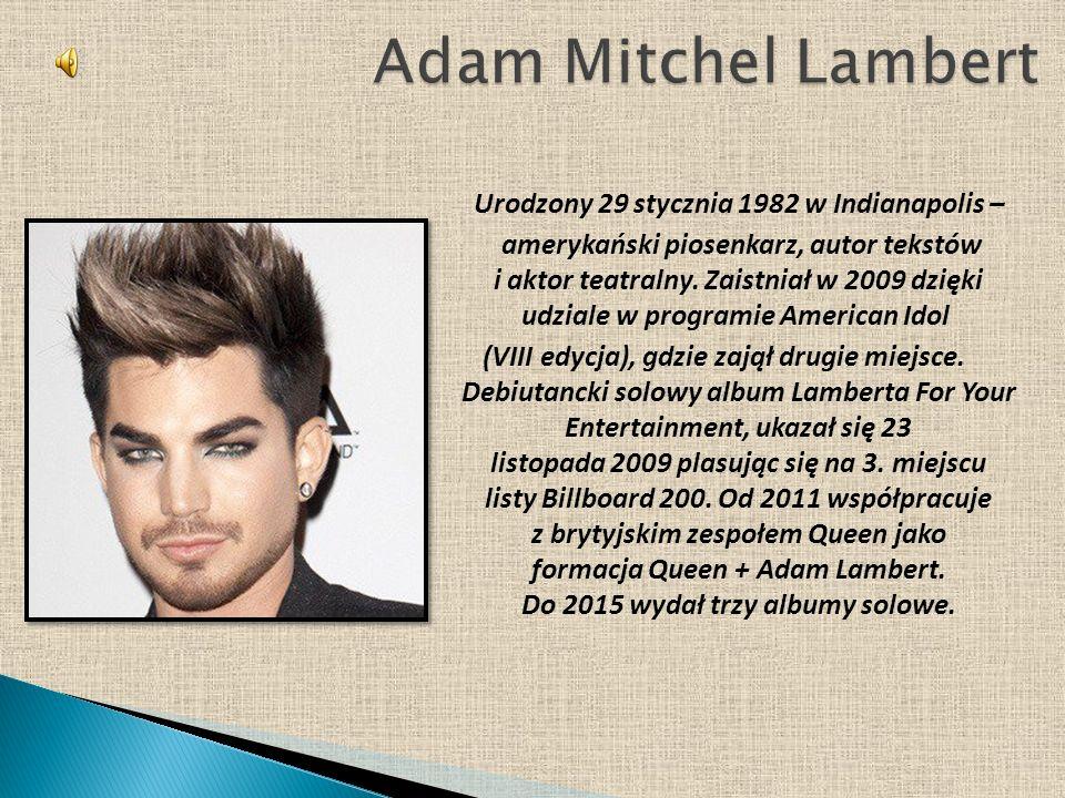 Urodzony 29 stycznia 1982 w Indianapolis – amerykański piosenkarz, autor tekstów i aktor teatralny.