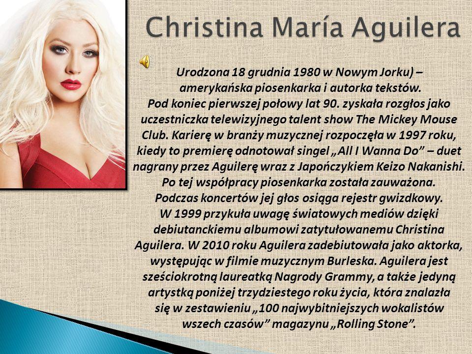 Urodzona 18 grudnia 1980 w Nowym Jorku) – amerykańska piosenkarka i autorka tekstów. Pod koniec pierwszej połowy lat 90. zyskała rozgłos jako uczestni