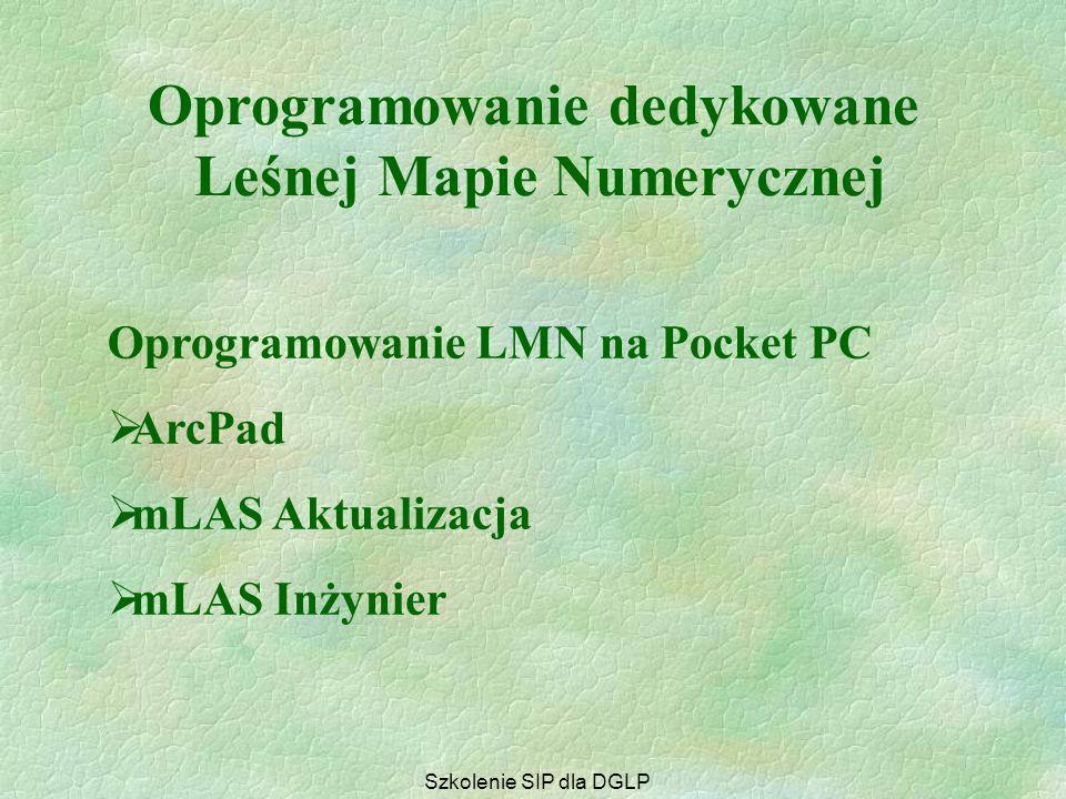 Programy darmowe  fGIS  ArcExplorer  Tatuk GIS Free GIS Viewer Oprogramowanie dedykowane Leśnej Mapie Numerycznej Szkolenie SIP dla DGLP