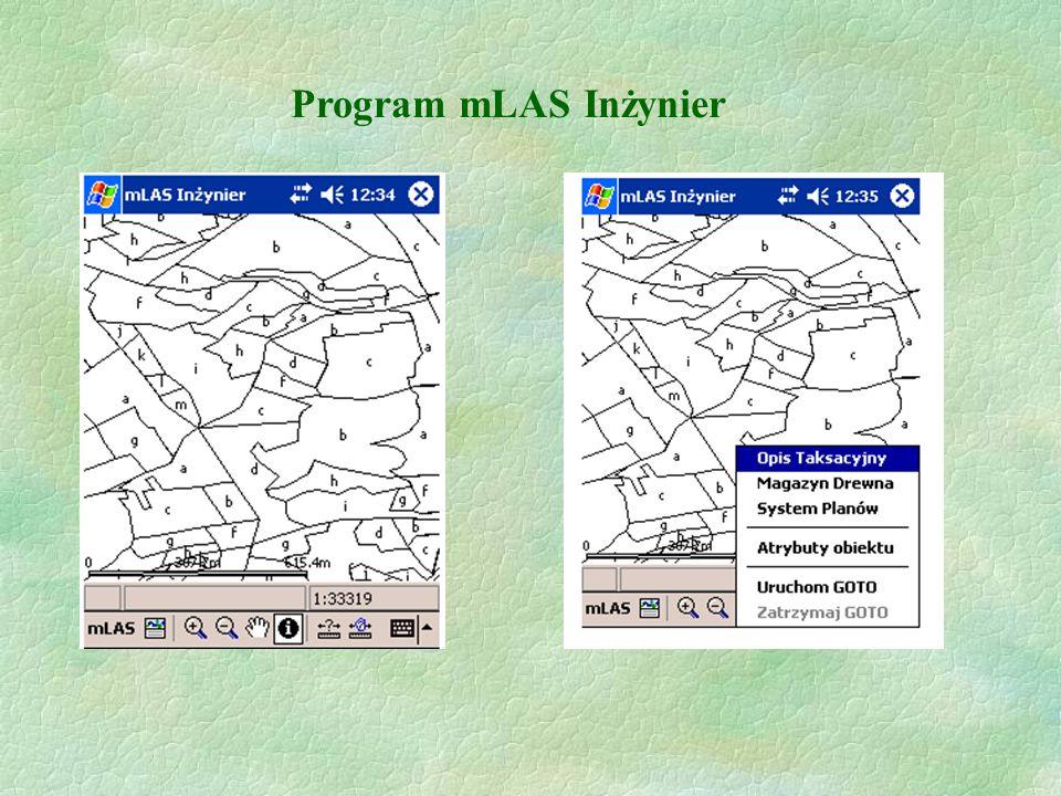 Oprogramowanie dedykowane Leśnej Mapie Numerycznej Oprogramowanie LMN na Pocket PC  ArcPad  mLAS Aktualizacja  mLAS Inżynier Szkolenie SIP dla DGLP