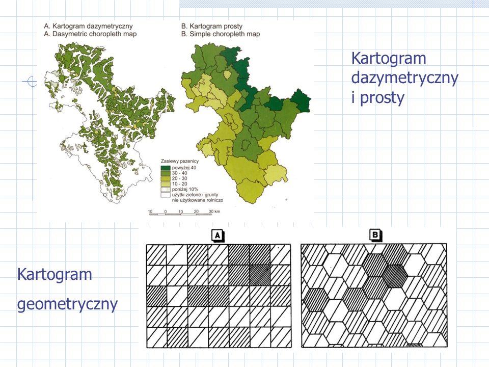 Kartogram dazymetryczny i prosty Kartogram geometryczny