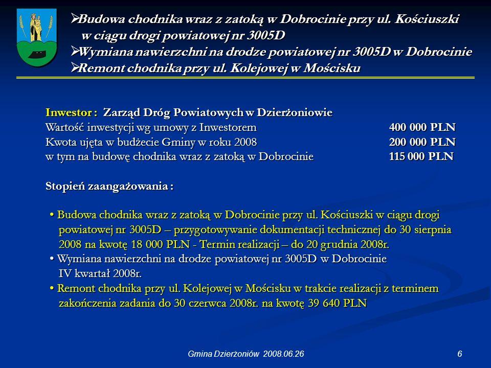 17Gmina Dzierżoniów 2008.06.26 Wykonanie schodów na ul.