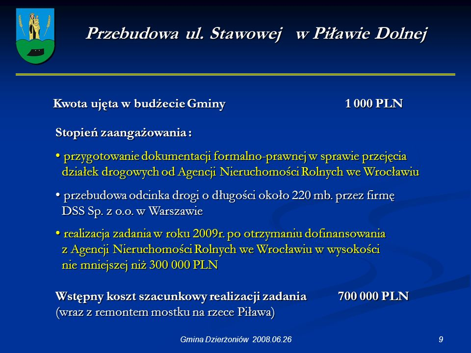 9Gmina Dzierżoniów 2008.06.26 Przebudowa ul.