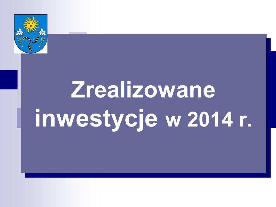 Zrealizowane inwestycje w 2014 r.