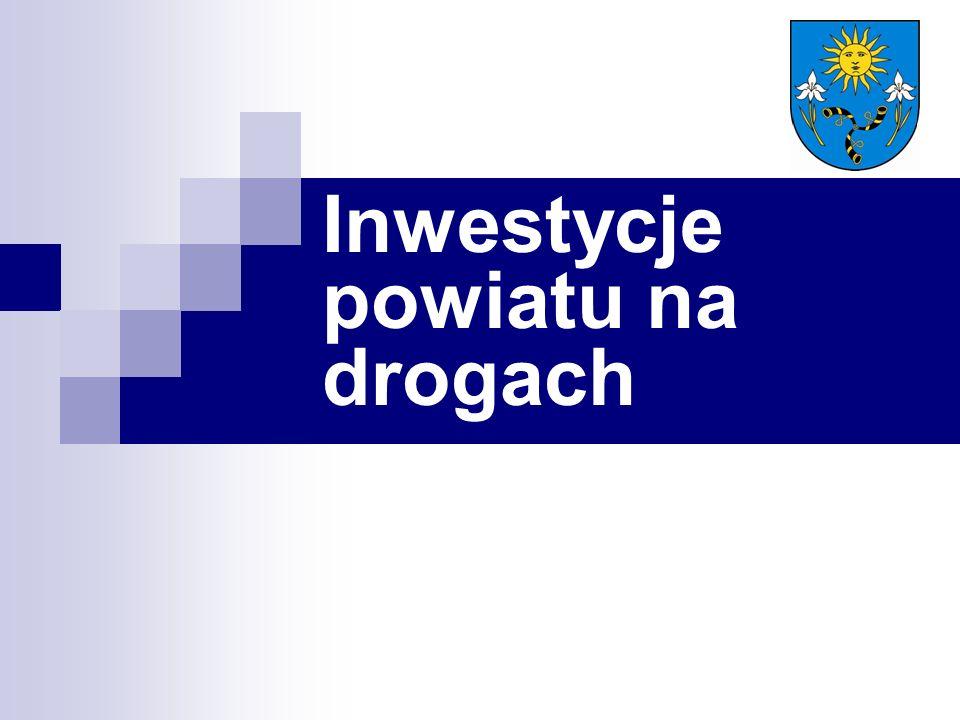 Inwestycje powiatu na drogach