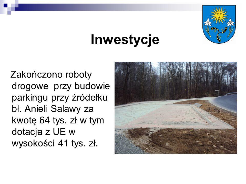 Inwestycje Zakończono roboty drogowe przy budowie parkingu przy źródełku bł.