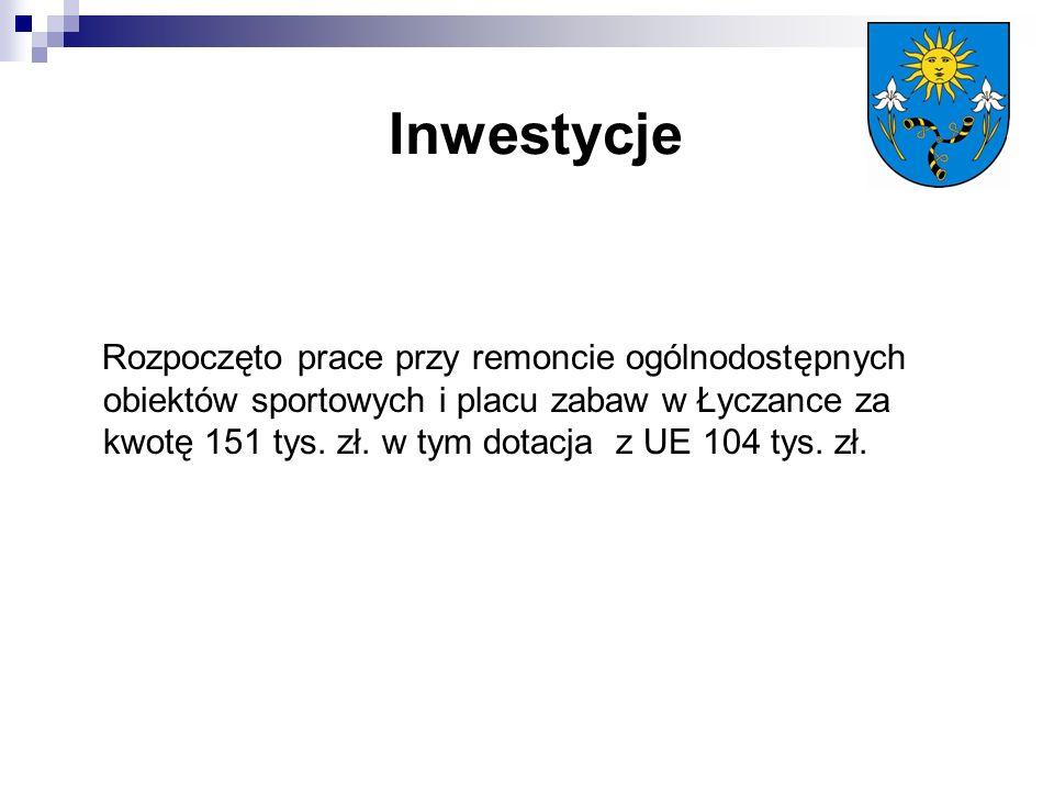 Inwestycje Rozpoczęto prace przy remoncie ogólnodostępnych obiektów sportowych i placu zabaw w Łyczance za kwotę 151 tys.
