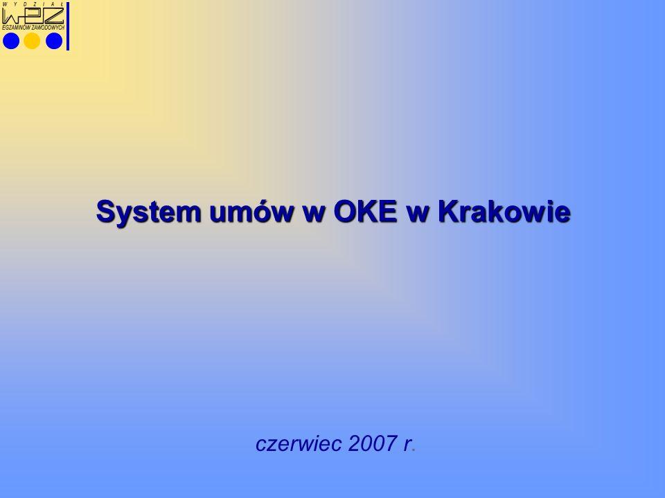 System umów w OKE w Krakowie czerwiec 2007 r.
