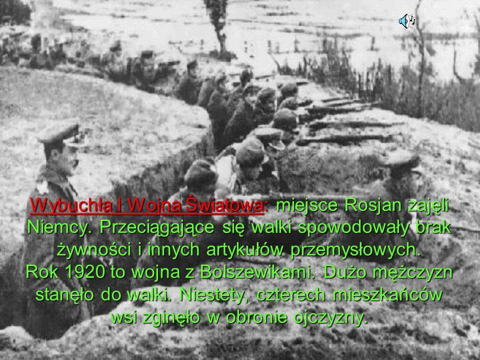 Wybuchła I Wojna Światowa: miejsce Rosjan zajęli Niemcy.