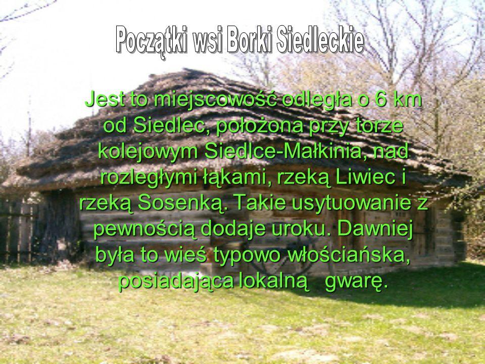 Jest to miejscowość odległa o 6 km od Siedlec, położona przy torze kolejowym Siedlce-Małkinia, nad rozległymi łąkami, rzeką Liwiec i rzeką Sosenką.