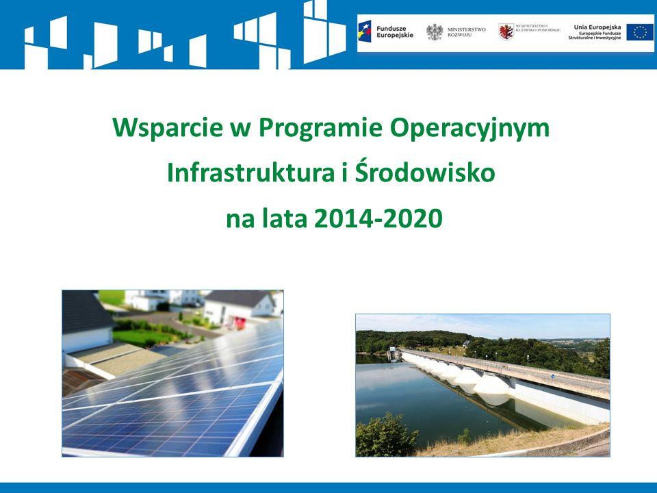 Wsparcie w Programie Operacyjnym Infrastruktura i Środowisko na lata 2014-2020