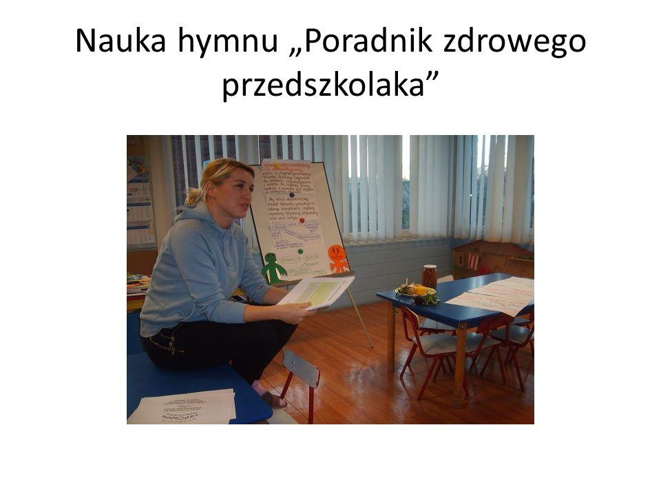 """Nauka hymnu """"Poradnik zdrowego przedszkolaka"""