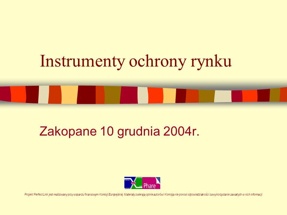 Instrumenty ochrony rynku Zakopane 10 grudnia 2004r.