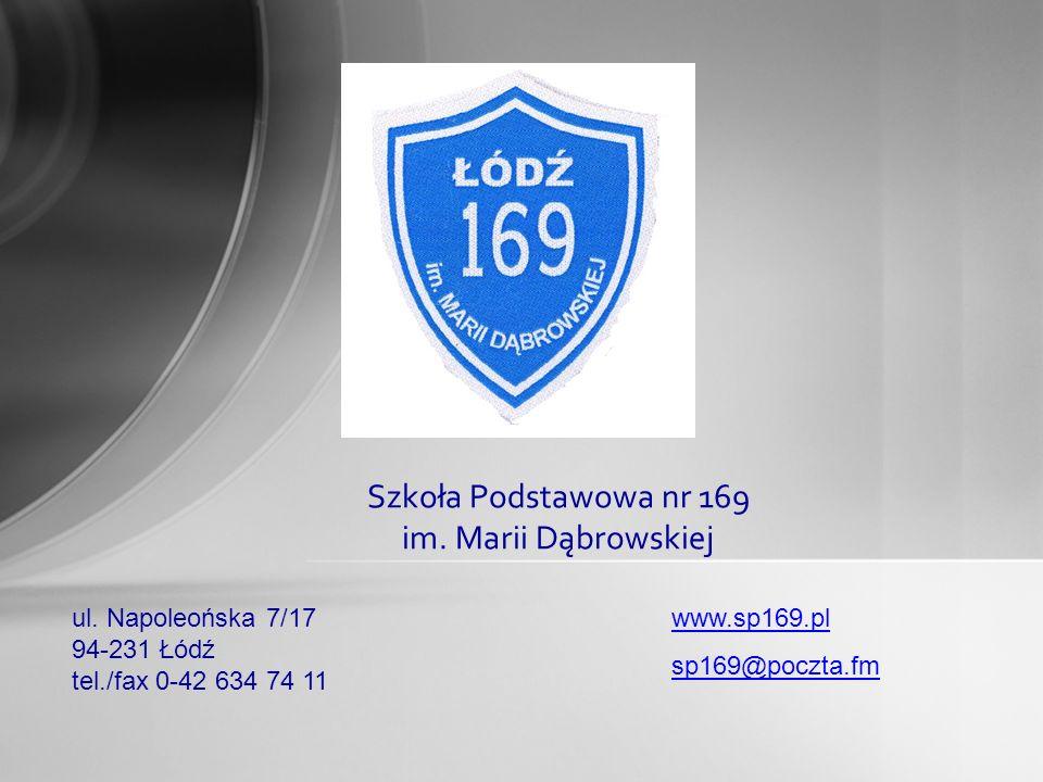 Szkoła Podstawowa nr 169 im. Marii Dąbrowskiej ul.