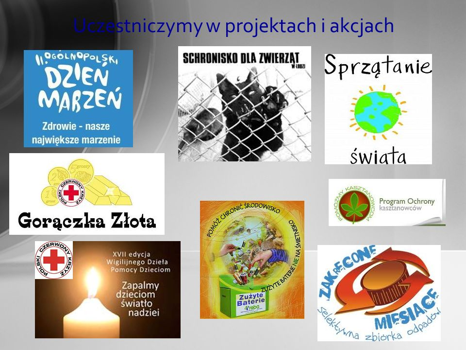 Uczestniczymy w projektach i akcjach