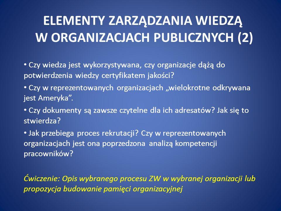 ELEMENTY ZARZĄDZANIA PUBLICZNEGO Jakie są źródła zakłóceń i tendencje modernizacyjne w administracji publicznej.
