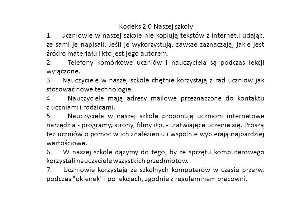 Kodeks 2.0 Naszej szkoły 1.