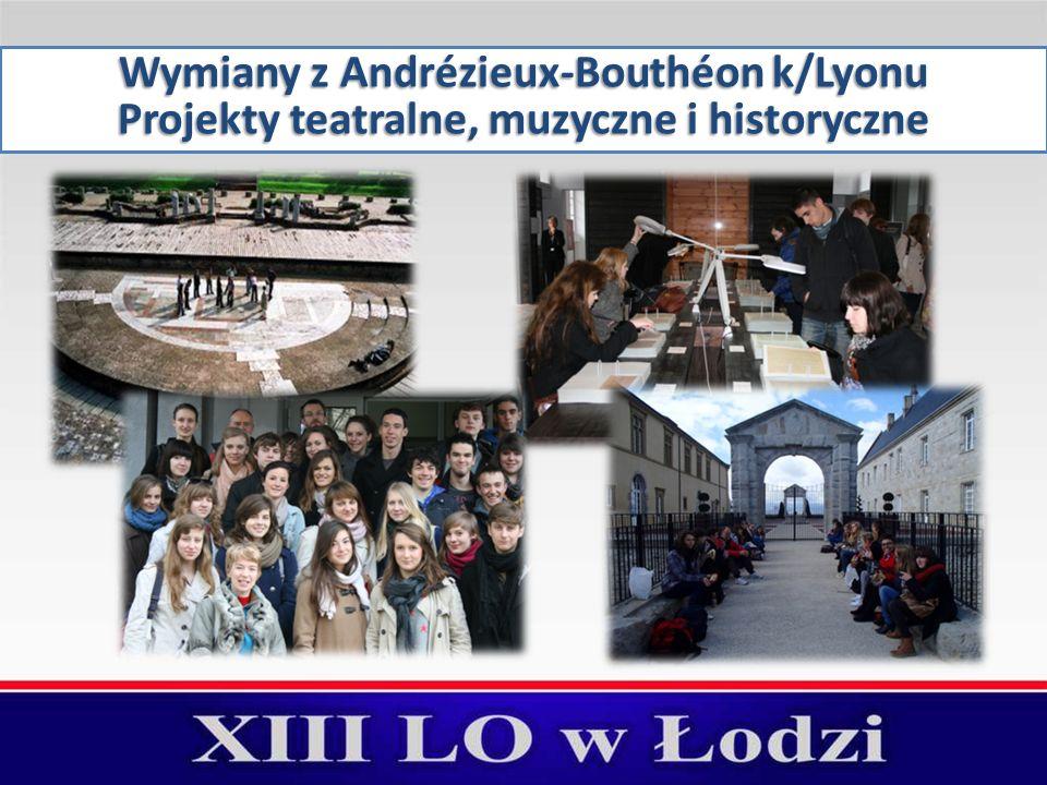 Wymiany z Andrézieux-Bouthéon k/Lyonu Projekty teatralne, muzyczne i historyczne