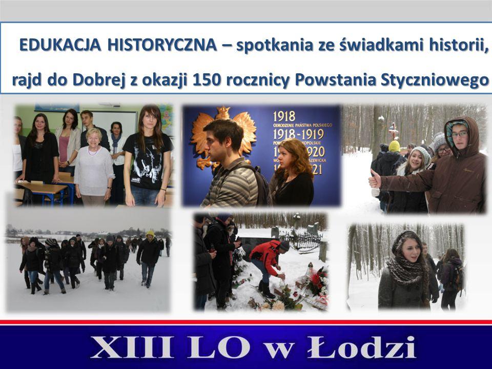 EDUKACJA HISTORYCZNA – spotkania ze świadkami historii, rajd do Dobrej z okazji 150 rocznicy Powstania Styczniowego