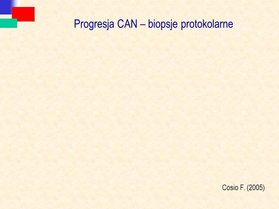 Progresja CAN – biopsje protokolarne Cosio F. (2005)